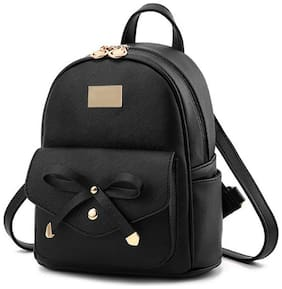 SaleBox Black Leather Backpack