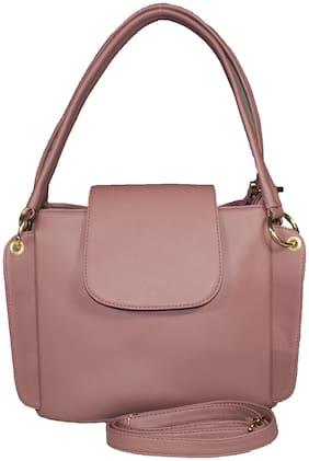 SaleBox Pink PU Solid Sling Bag