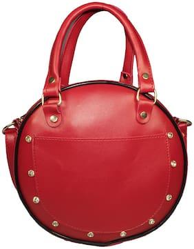 SaleBox Red PU Solid Sling Bag