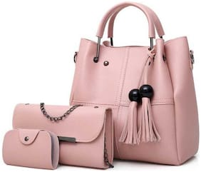 SaleBox Pink PU Shoulder Bag - FRINGE