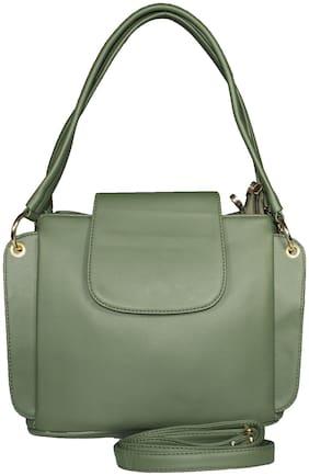 SaleBox Green PU Solid Sling Bag