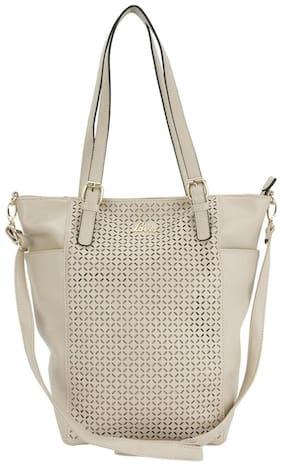 LAVIE Beige Faux Leather Handheld Bag
