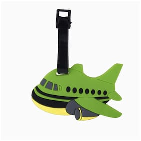 SG Green Aeroplane Luggage Tag