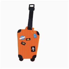 SG Orange Suitcase Luggage Tag