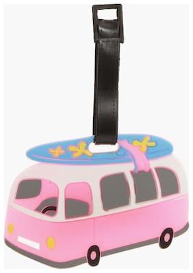 SG Pink Bus Luggage Tag