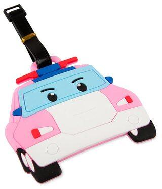 SG Pink Car Luggage Tag