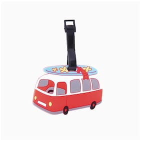SG Red & White Bus Luggage Tag