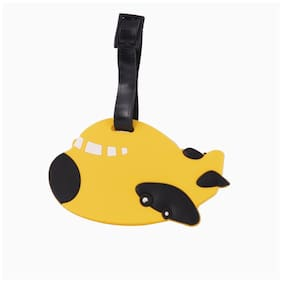 SG Yellow Aeroplane Luggage Tag