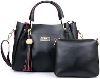 Shining Star Black PU Handheld Bag