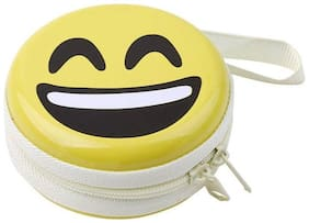 Shopatrones Hard Aluminium Zipper Headphone Case Pouch Handsfree Case Pouch Earphone Case Pouch Bag