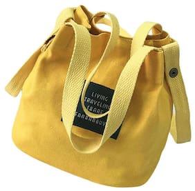 Shoulder Bag Handbags Bucket Bag Letter Canvas