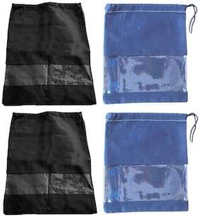 Shree Jee Travelling Shoe Pouch(Pack Of 4))