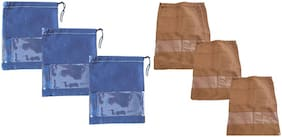 Shree Jee Travelling Shoe Pouch(Pack Of 6))