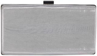 SHREE SHYAM PRODUCTS Silver  Clutch Bag For Women