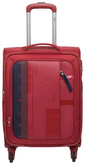 Skybags Airway Cabin Size Soft Luggage Bag ( Red , 4 Wheels )