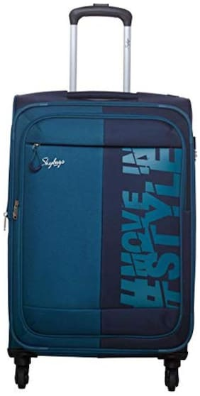 Skybags SKYBAGS_DFTARH57NVY Cabin Size Soft Luggage Bag ( Blue , 4 Wheels )