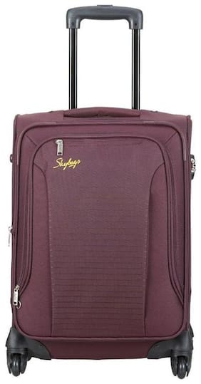 Skybags Cabin Size Soft Luggage Bag - Maroon , 4 Wheels