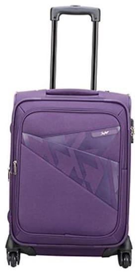 Skybags Cabin Size Soft Luggage Bag ( Purple , 4 Wheels )