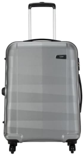 Skybags Cabin Size Hard Luggage Bag ( Silver , 4 Wheels )