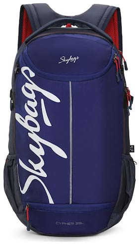 Skybags Blue Nylon Backpack