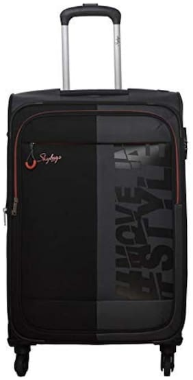 Skybags SKYBAGS_STFABH56SGY Cabin Size Soft Luggage Bag ( Grey , 4 Wheels )