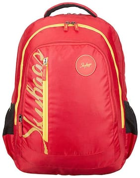 Skybags Red Canvas Backpack