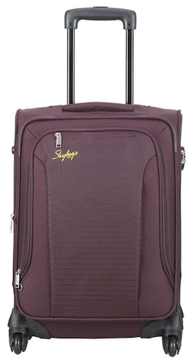 71a190125 Skybags Cabin Size Soft Luggage Bag - Red , 4 Wheels