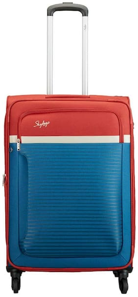 Skybags Luggage Large Size Soft Luggage Bag ( Blue , 4 Wheels )
