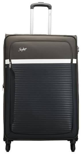 Skybags Large Size Soft Luggage Bag - Green , 4 Wheels