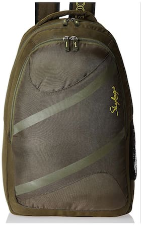 Skybags Green Waterproof Polyester Backpack