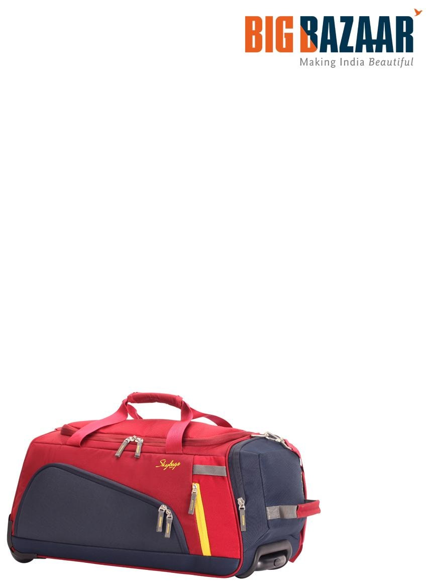 088e8b52f36e Buy Skybags Hatch 67 cm Duffle On Wheel (Red) Online at Low Prices in India  - Paytmmall.com