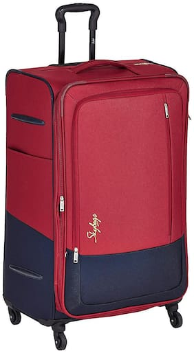 Skybags Large Size Hard Luggage Bag ( Red , 4 Wheels )