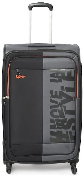 Skybags Large Size Soft Luggage Bag ( Grey , 4 Wheels )