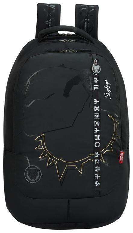 Skybags MARVEL EXTRA BLACK PANTHER BLACK SCHOOL BACKPACK 37L Backpack