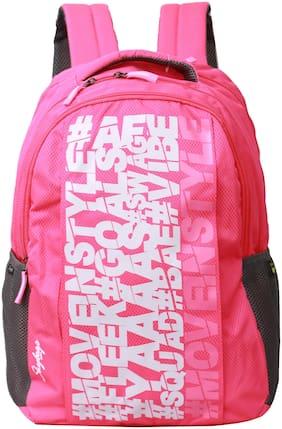 Skybags Pink Waterproof Polyester Backpack