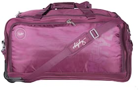 Skybags Polyester Zipper Purple Duffle Strolly For Men And Women