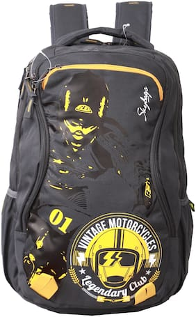 Skybags Black Polyester Backpack