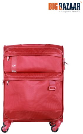 Skybags Cabin Size Soft Luggage Bag - Red , 4 Wheels