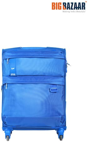 Skybags Skysurf Cabin Size Soft Luggage Bag ( Blue , 4 Wheels )