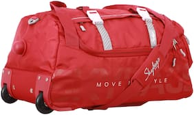 Skybags Medium Size Duffle Strolly - Red , 2 Wheels