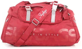 Skybags Snazzy Cabin Size Duffle Strolly Bag ( Red , )