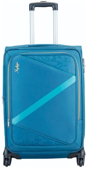 Skybags SPOTLIGHT Cabin Size Soft Luggage Bag ( Blue , 4 Wheels )