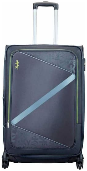 Skybags Luggage Large Size Soft Luggage Bag ( Grey , 4 Wheels )