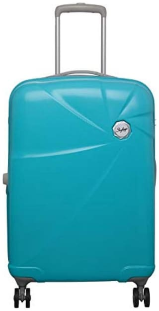 Skybags SKYBAGS_CAPTUR55TRQ Cabin Size Hard Luggage Bag ( Blue , 4 Wheels )