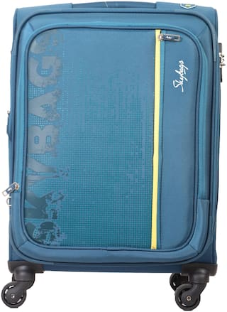 Skybags Zillion Cabin Size Soft Luggage Bag ( Blue , 4 Wheels )