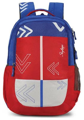 Skybags Red Polyester Backpack