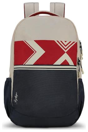 Skybags Beige Polyester Backpack