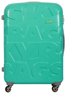 Skybags Cabin Luggage Cabin Size Hard Luggage Bag ( Green , 4 Wheels )