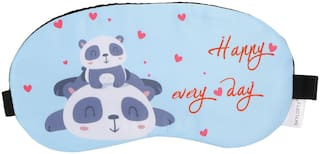 Skylofts Soft & Smooth Fabric Cute Happy Panda Sleeping Mask Cooling Pack eye masks for Travel