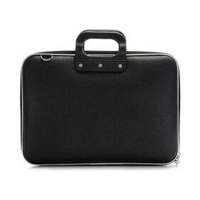 Slim Stylish Black Leather Laptop Office Bag